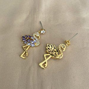 kate spade Jewelry - Kate Spade Shiny Gem Flamingo Stud Earrings